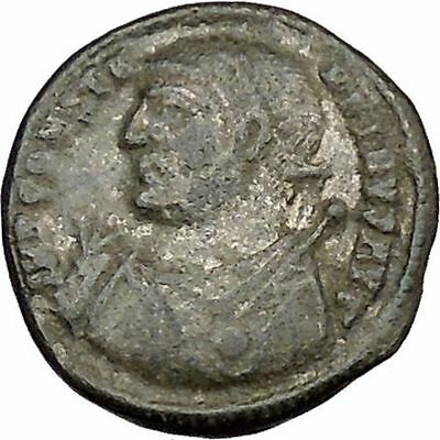 Constantine I The Great 313AD Ancient Roman Coin Zeus Jupiter Cult  i39192
