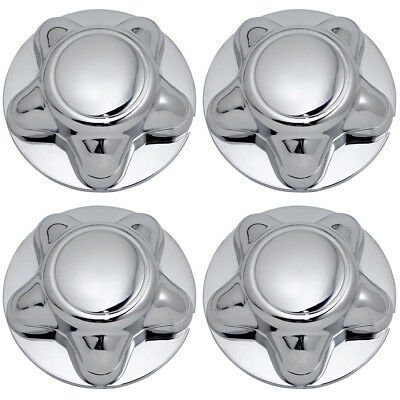 4 Pc Set Ford CHROME Wheel Center Hub Caps Rim Covers 5 Lug Steel & Alloy Wheels