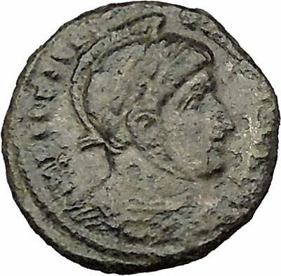 Constantine I The Great 318AD Ancient Roman Coin Two Victory Goddess Cult i39213