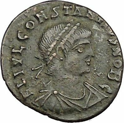CONSTANTIUS II son of  Constantine the Great  Ancient Roman Coin Standard i39215