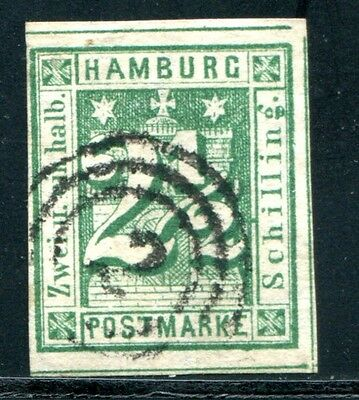 HAMBURG 1864 9 gest drei SChnittlinien + 100% sign RICHTER(E1210