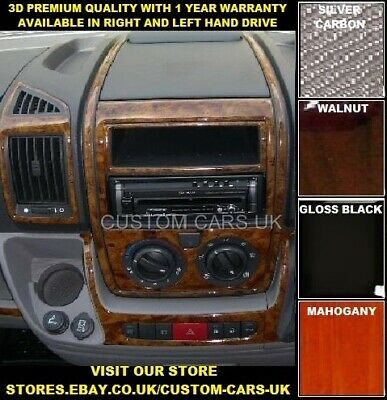 Walnut Or Carbon Fibre 3D Dash Kit - Fiat Ducato MK3 MK4 2006  Vans - Motorhomes