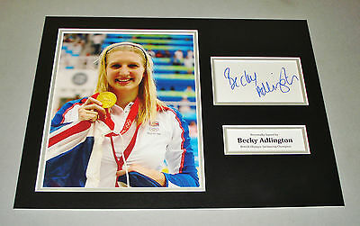 Becky Adlington Signed Photo 16x12 Olympic Autograph Memorabilia Display + COA