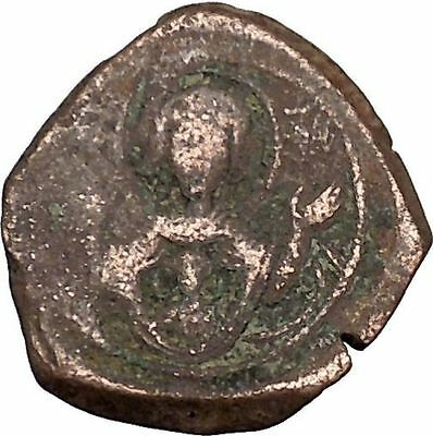 Andronicus I Comnenus 1183AD Ancient Medieval Byzantine Coin Virgin Orans i39349