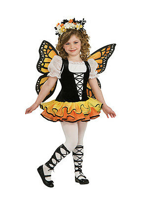 Kids Monarch Butterfly Fairy Tutu Princess Girls Fancy Dress Costume Outfit