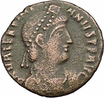 Valentinian I w labarum 364AD Ancient Roman Coin Christ monogram Chi-Rho i39362