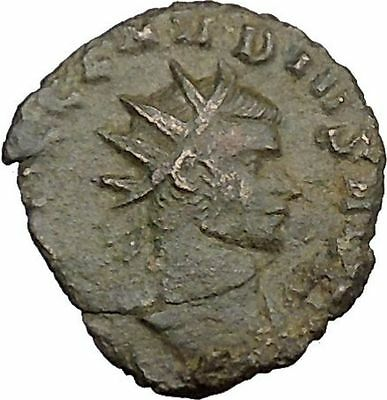 Claudius II Gothicus 268AD Ancient Roman Coin Ares Mars War God Cult   i39364