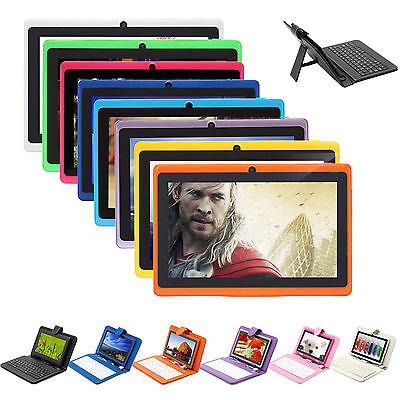 "IRULU 7"" Multi-Color Tablet PC Android 4.2 Dual Core A23 1.5GHz 8GB w/ Keyboard"