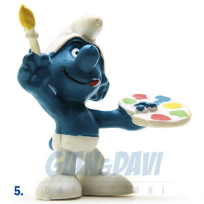 PUFFO PUFFI SMURF SMURFS SCHTROUMPF 2.0045 20045 Painter Smurf Puffo Pittore 5A