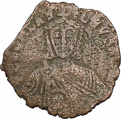 Leo VI, the Wise w purple silk roll 886AD Ancient Medieval Byzantine Coin i39427