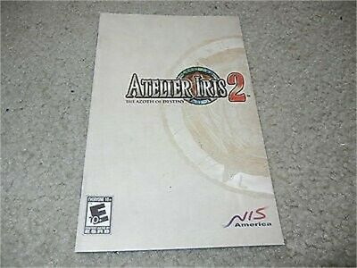***ATELIER IRIS 2 THE AZOTH OF DESTINY PS2 PLAYSTATION 2 MANUAL ONLY***