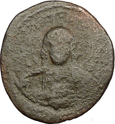 JESUS CHRIST Class A2 Anonymous Ancient 1028AD Byzantine Follis Coin  i39445