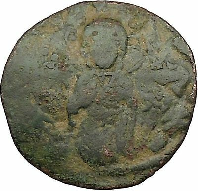 JESUS CHRIST Ancient Christian Byzantine Nicephorus III Follis1078AD Coin i39439