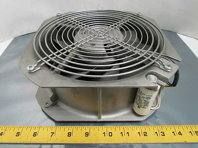 """EMB Papst Aluminum 7-7/8"""" Dia Axial Fan 230V 50/60Hz 64/80W Thermally Protected"""