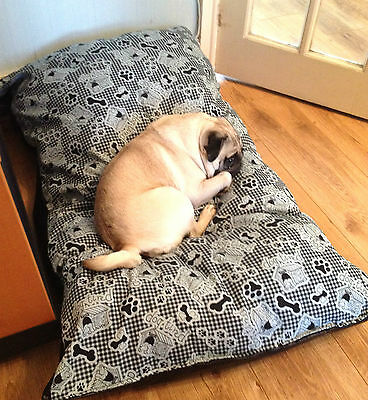 PET BED durable DOG BEDS WARM DUVET cushion deep filling 55x35inch extra cover
