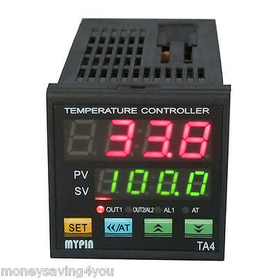 Dual Digital F/C TC PID TA4-SRR Temperature Control Controller SSR with 2 Alarm