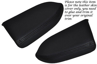 Black Stitch 2X Front Door Armrest Leather Skin Covers Fits Honda Accord 03-07