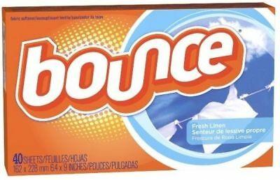 Bounce Dryer Sheets Fresh Linen Scent Fabric Softener 40 Ct Box
