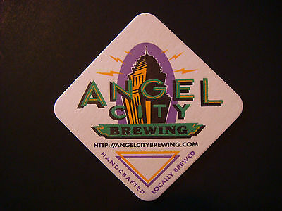 Rare Beer Coaster ~ ANGEL CITY Brewing Co ~ Los Angeles, CALIFORNIA; Handcrafted