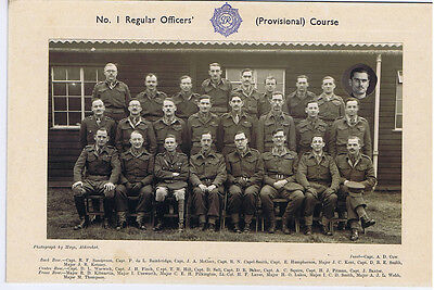 British Army Officers Group c.1940's - Vintage Photograph by Mays of Aldershot