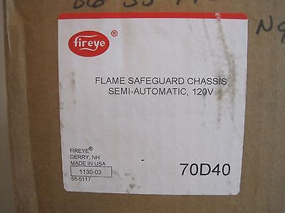New Fireye 70D40 Flame Safeguard Chassis