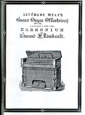 Harmonium Music Lefebure Wely's Grand Offertoires Op35 Arr. For The Harmonium