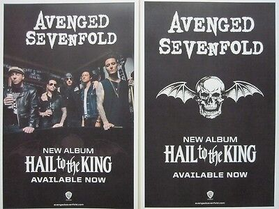 AVENGED SEVENFOLD 2013 HAIL KING 2 sided promotional poster  ~MINT condition~!