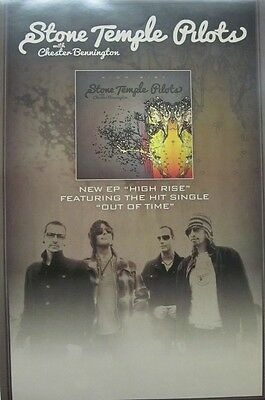 STONE TEMPLE PILOTS 2013 HIGH RISE promotional poster ~NEW & MINT condition~!