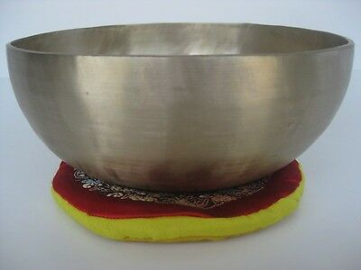 "Tibetan Singing Bowl ~ 8.25"" D Sacral, Excellent sustain"