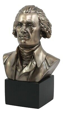President Thomas Jefferson Bust Sculpture Statue Declaration Of Independence