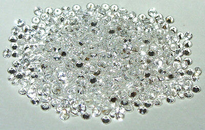 2mm White Spinel Round Cut Small Accent Size - 2 Stones