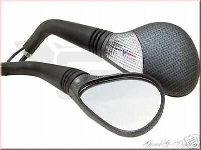 Carbon Mirror With Indicator E-Certified For Scooter Yamaha Aerox Nitro Sr