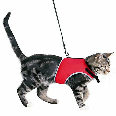 Trixie Cat Harness And Lead Soft Vest Jacket Harness Red or Black