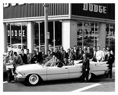 1959 Dodge Convertible Factory Photo Lawrence Welk uc6843
