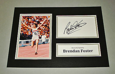Brendan Foster Signed A4 Photo Display Olympics 76 Autograph Memorabilia + COA