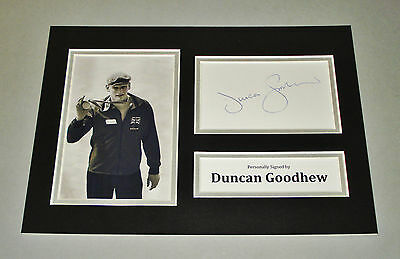 Duncan Goodhew Signed A4 Photo Display Swimming Autograph Memorabilia + COA
