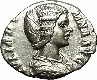 Julia Domna Caracalla & Geta mother Silver Ancient Roman Coin Vesta Cult  i39609