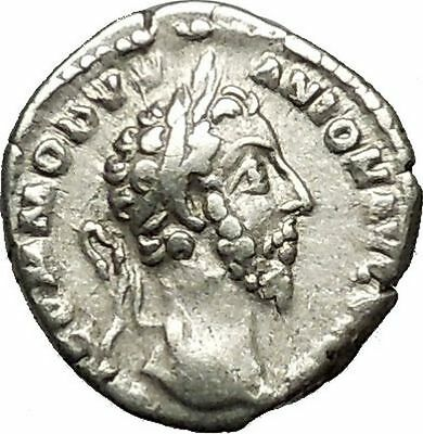 COMMODUS son of Marcus Aurelius Ancient Silver Roman Coin Forethought  i39611