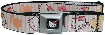 Hello Kitty Tulip Expressions Cartoon One Size Youth - Adult Seatbelt Belts