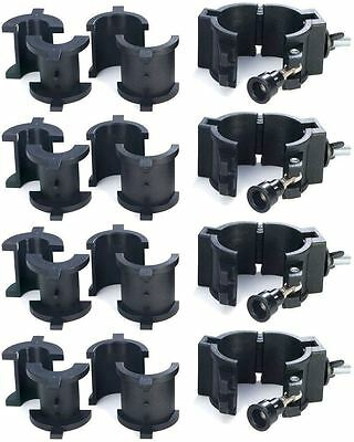 "(4) Chauvet CLP10 CLP-10 360°  Wrap Around ""O"" Clamps For Light Mounting"