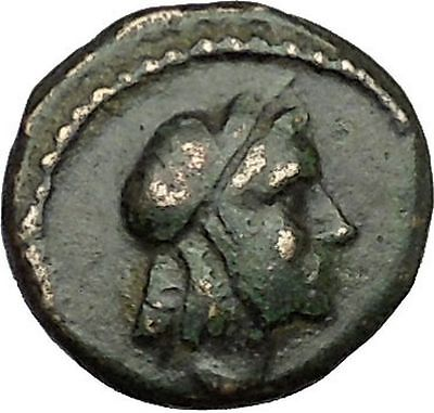 AMPHIPOLIS 187BC Rare Ancient  Greek Coin APOLLO Healer God Ear of grain i39662