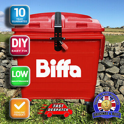 Biffa Euro Industrial Wheelie Bin Lid Strap Lock-Easily Fitted  & Remove.