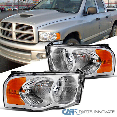 For 02-05 Dodge Ram 1500/2500/3500 Pickup Clear Headlights Head Lamps Left+Right