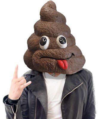 Adult Doo Doo Crap Turd S%#T Head Face Costume Party Latex Mask ~  + 1 Million