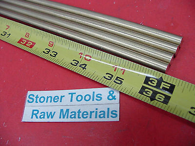 """4 Pieces 1/4"""" C360 BRASS ROUND ROD 36"""" long Solid H02 .250"""" Lathe Bar Stock"""