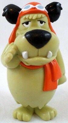 """hb Muttley PVC 3"""" TOY 98 Hanna Barbera Dick Dastardly Wacky Racers Figure New wb"""