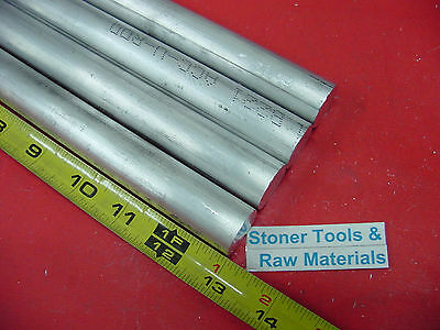 """4 Pieces 7/8"""" ALUMINUM 6061 ROUND ROD 13"""" long T6511 Solid New Lathe Bar Stock"""