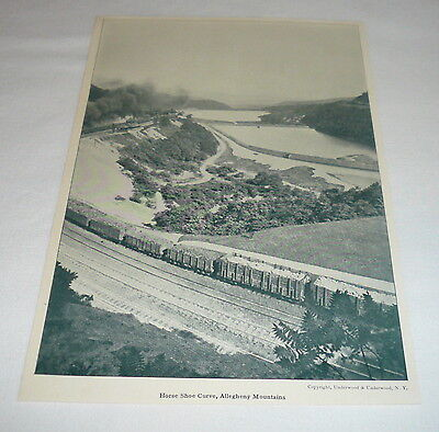 1923 print ~ HORSE SHOE CURVE, Allegheny Mountains