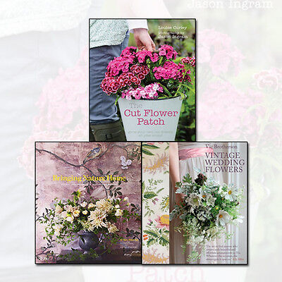 The Cut Flower Patch,Vintage Wedding Flowers Collection,3 Books Set