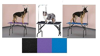 Folding Grooming Table with Arm & Loop - Strong Groomers Tabletop for Pet & Dogs